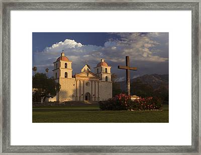 Framed Print featuring the photograph Santa Barbara Mission Mg_6324 by David Orias