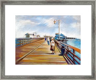 Santa Barbara Pier Framed Print by Filip Mihail