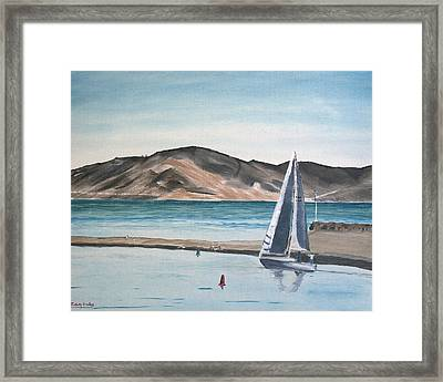 Santa Barbara Sailing Framed Print