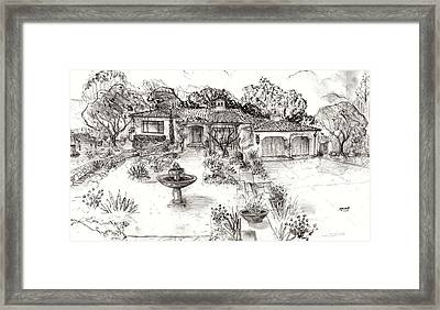 Santa Barbara Spanish Cottage Framed Print by Jeff Doubet