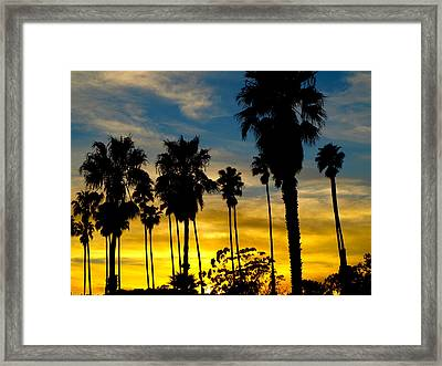 Santa Barbara Sunset Framed Print
