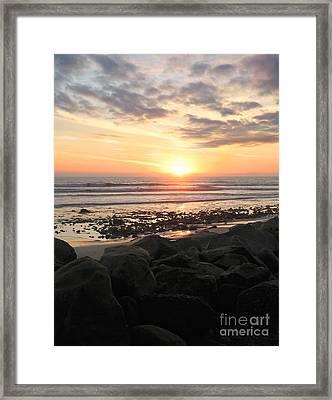 Santa Barbara Sunset Framed Print by Stu Shepherd