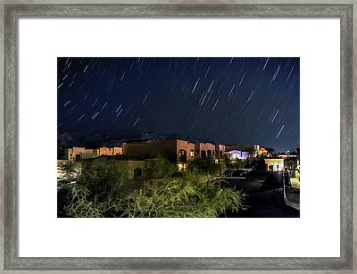 Framed Print featuring the photograph Santa Catalina Mountain Startrails by Dan McManus