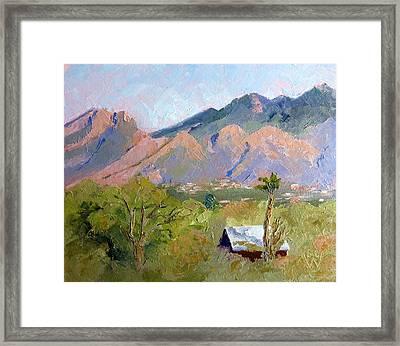 Santa Catalinas Framed Print by Susan Woodward