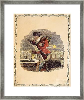 Santa Claus, 1848 Framed Print by Granger