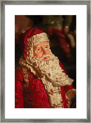 Santa Claus - Antique Ornament - 01 Framed Print by Jill Reger