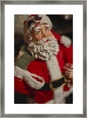 Santa Claus - Antique Ornament - 02 Framed Print by Jill Reger