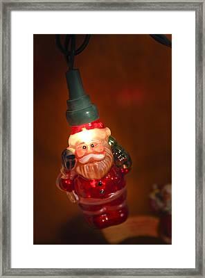 Santa Claus - Antique Ornament - 06 Framed Print by Jill Reger