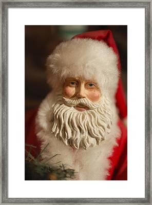 Santa Claus - Antique Ornament - 07 Framed Print by Jill Reger