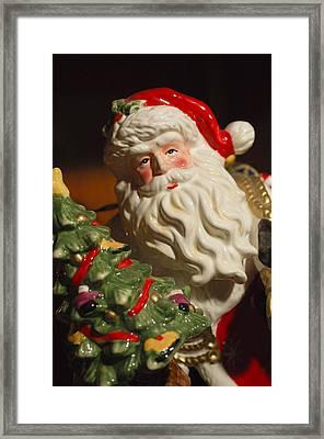 Santa Claus - Antique Ornament - 10 Framed Print by Jill Reger