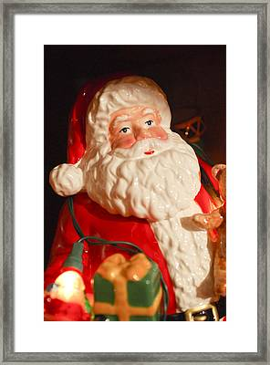 Santa Claus - Antique Ornament - 13 Framed Print by Jill Reger