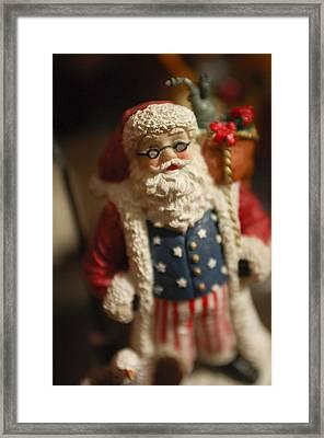 Santa Claus - Antique Ornament - 15 Framed Print by Jill Reger