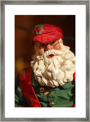 Santa Claus - Antique Ornament - 16 Framed Print by Jill Reger