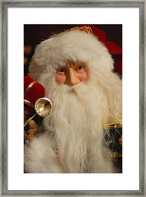 Santa Claus - Antique Ornament - 17 Framed Print by Jill Reger