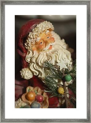 Santa Claus - Antique Ornament - 18 Framed Print by Jill Reger