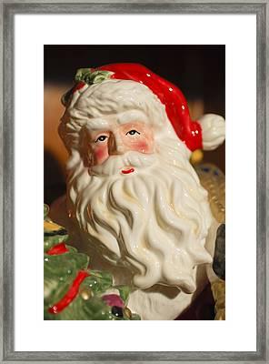 Santa Claus - Antique Ornament - 19 Framed Print by Jill Reger