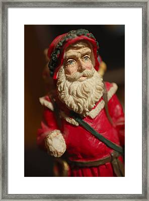 Santa Claus - Antique Ornament - 21 Framed Print by Jill Reger