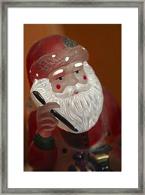 Santa Claus - Antique Ornament - 24 Framed Print by Jill Reger