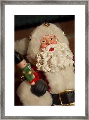 Santa Claus - Antique Ornament - 25 Framed Print by Jill Reger