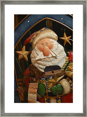Santa Claus - Antique Ornament - 27 Framed Print by Jill Reger