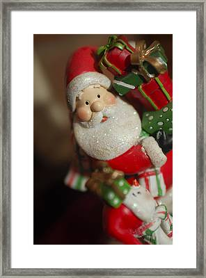 Santa Claus - Antique Ornament - 28 Framed Print by Jill Reger