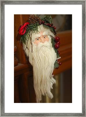 Santa Claus - Antique Ornament - 29 Framed Print by Jill Reger