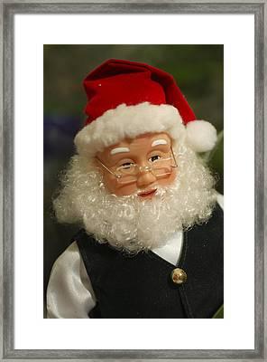 Santa Claus - Antique Ornament - 30 Framed Print by Jill Reger
