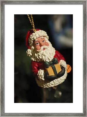 Santa Claus - Antique Ornament - 31 Framed Print by Jill Reger