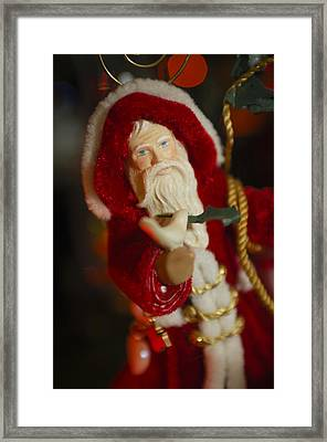 Santa Claus - Antique Ornament - 32 Framed Print by Jill Reger