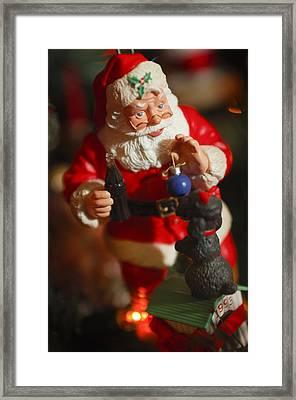 Santa Claus - Antique Ornament - 33 Framed Print by Jill Reger