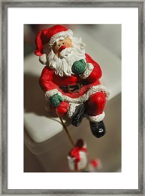 Santa Claus - Antique Ornament - 35 Framed Print by Jill Reger