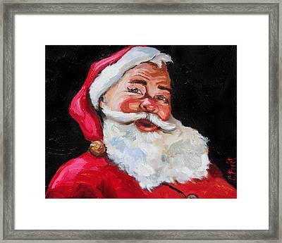 Santa Claus Framed Print by Carole Foret