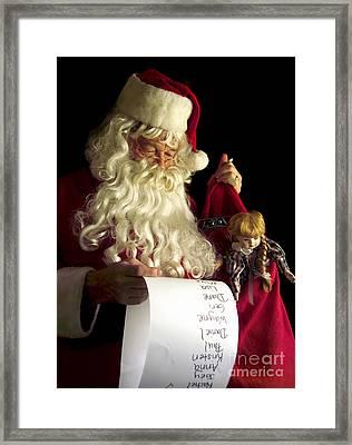 Santa Claus Framed Print by Diane Diederich