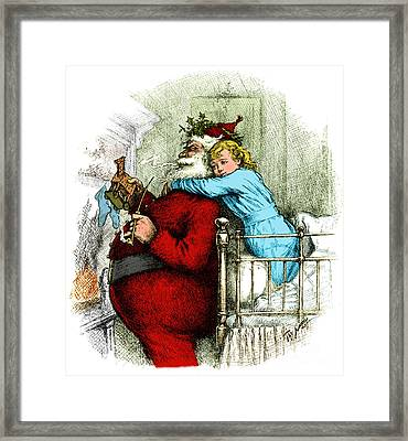 Santa Claus Gets Caught 1889 Framed Print