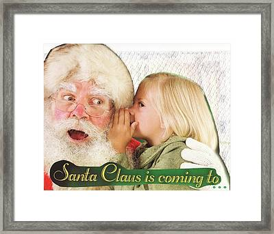 Santa Claus Is Coming To Town Framed Print