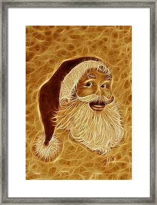 Santa Claus Joy Digital Coffee Framed Print