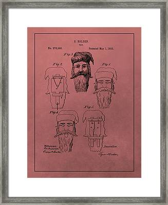 Santa Claus Mask Patent Framed Print by Dan Sproul