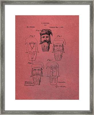 Santa Claus Mask Patent Red Framed Print by Dan Sproul