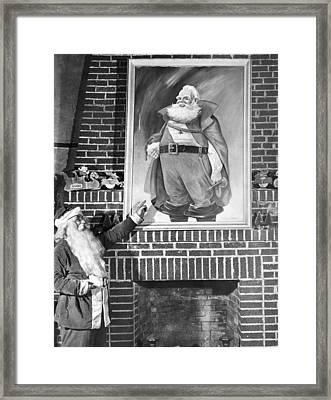 Santa Claus Portrait Uproar Framed Print by Underwood Archives