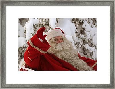Ho Ho Ho - It's Santa Claus Framed Print by Doc Braham