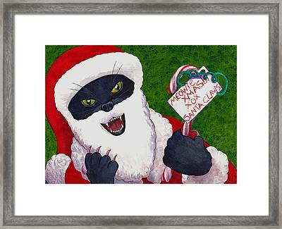 Santa Claws Framed Print by Catherine G McElroy