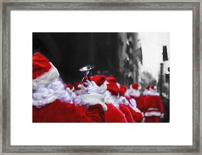 Santa Clones Framed Print
