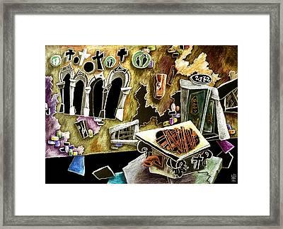 Santa Croce - Campo Con Pozzo E Architettura Gotica Bizantina Framed Print by Arte Venezia
