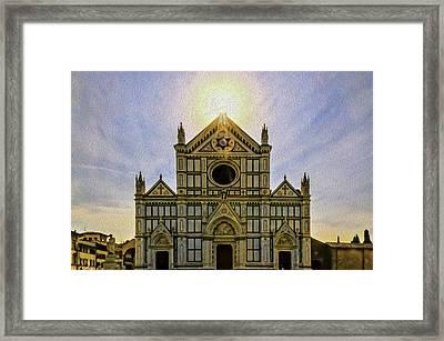 Santa Crose Framed Print