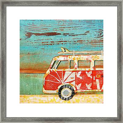 Santa Cruise Framed Print