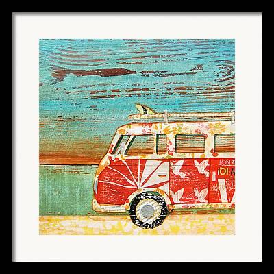Santa Cruz Surfing Framed Prints