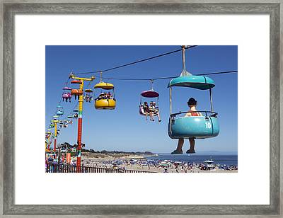 Santa Cruz Beach Amusement Park  Framed Print