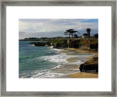 Santa Cruz Beach Framed Print