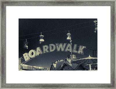 Santa Cruz Boardwalk 2 Framed Print by Scott Campbell