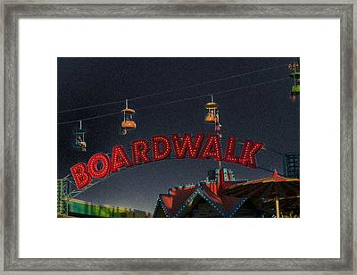 Santa Cruz Boardwalk 3 Framed Print